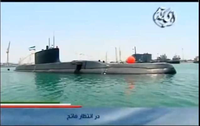 As primeiras imagens do novo submarino iraniano apareceram