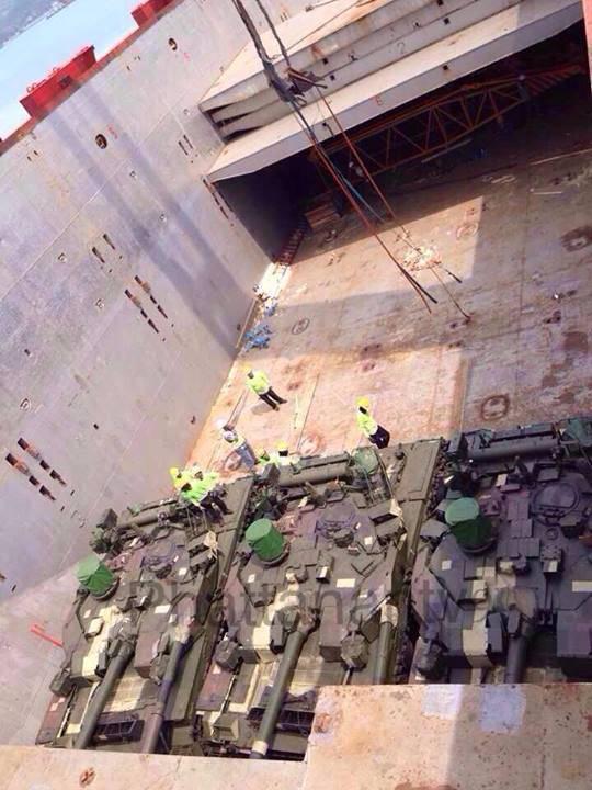 首批BM Oplot坦克抵达泰国
