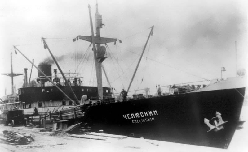 80多年前沉没了Cheluskin船