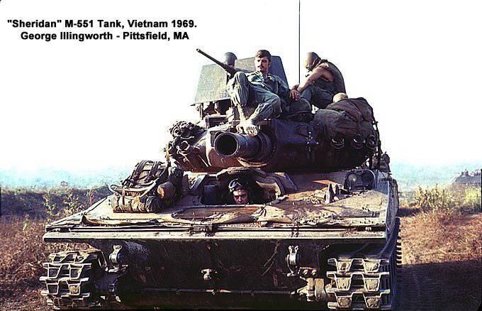 Tank M551 Sheridan. Combat use