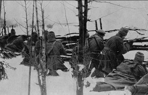E os alemães foram ao ataque ... Batalha de inverno na Masúria: das crônicas do 29 Regimento de Rifles Siberianos