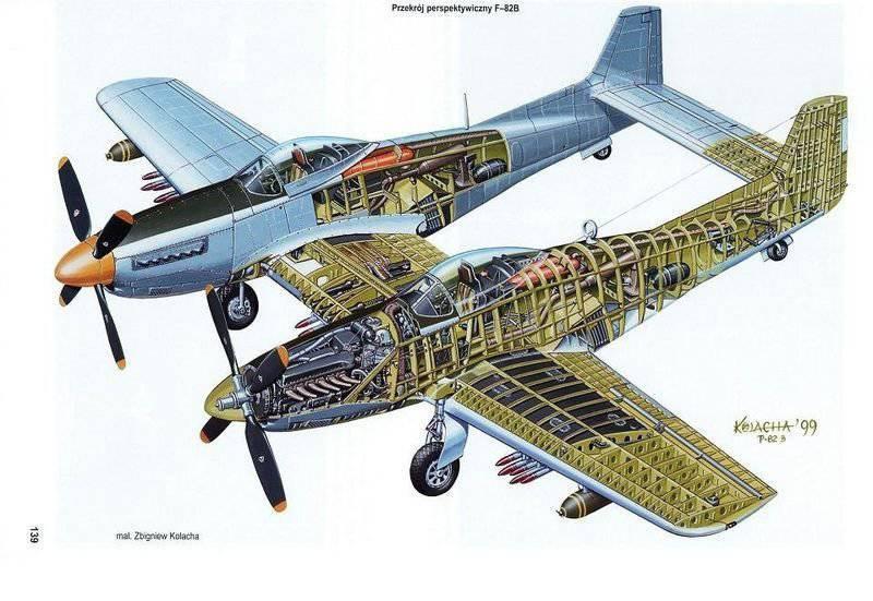 F-82 Twin Mustang — последний поршневой истребитель США