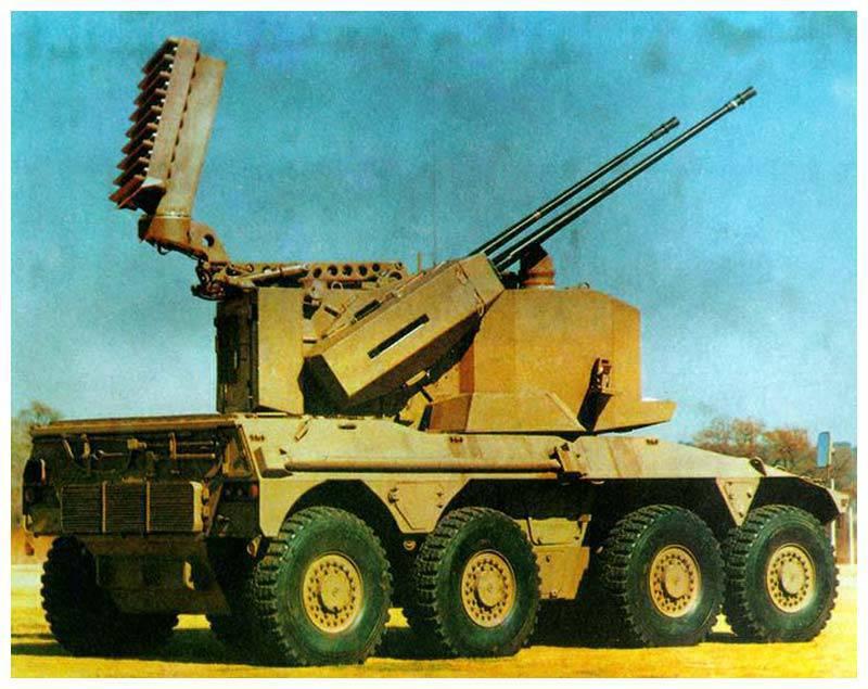 Instalación autopropulsada antiaérea ZA-35 (Sudáfrica)