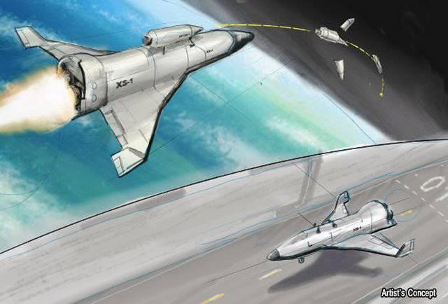 在美国,想着太空无人机