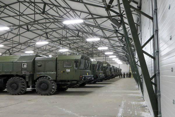Spetsstroy of Russia schloss den Bau von drei Lagern für Iskander-M-Raketensysteme ab