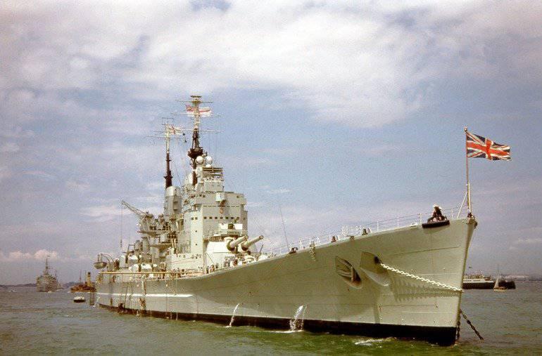Schlachtschiff im Falklandkrieg. Träume der Vergangenheit