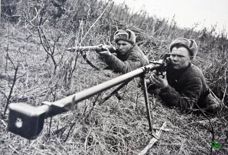 Armes anti-chars de l'infanterie soviétique pendant la guerre