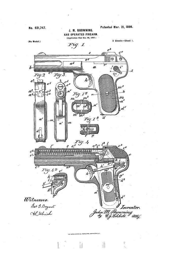 गन ब्राउनिंग नमूना 1900 (FN ब्राउनिंग मॉडल 1900)