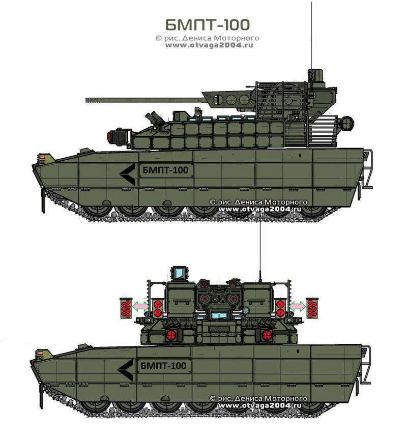 Альтернативная боевая машина поддержки танков БМПТ-100
