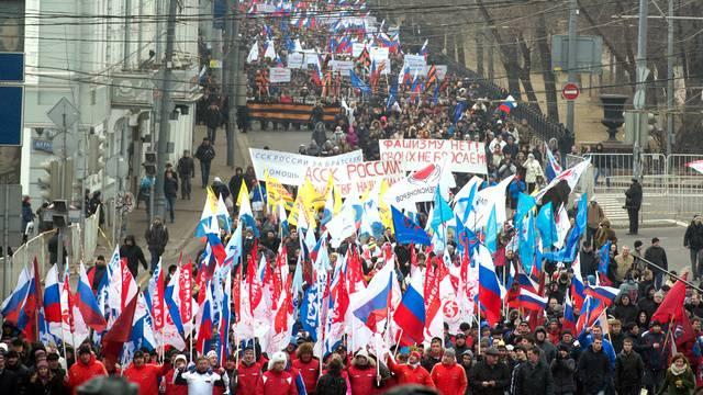 Le azioni a sostegno della popolazione di lingua russa dell'Ucraina si sono svolte nelle città russe
