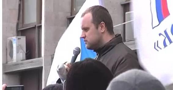 Gobernador popular de la región de Donetsk, Pavel Gubarev, acusado de separatismo