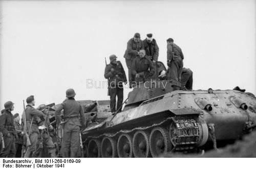 10 월 1941 추진력 소련 탱크맨 포획