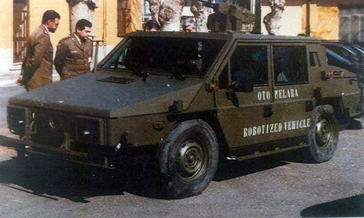 OTO Melara Gorgona R2.5 y R3 Carros blindados Capraia