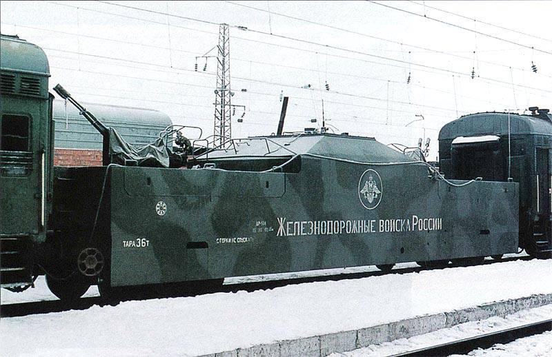 Trenes blindados en Transsib