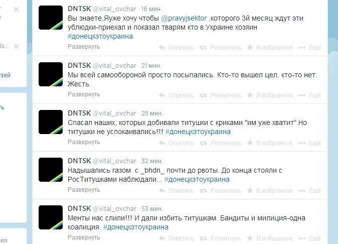 """""""Maidan"""" perdido em Donetsk"""