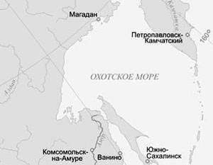 联合国认可的52千平方米。 鄂霍次克海的一部分俄罗斯架子的一部分