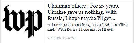 """Ninguém quer lutar pela Ucrânia - """"Washington Post"""", não """"Voz da Rússia"""""""