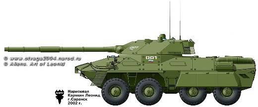 """Em vez de """"Octopus-K"""" e """"Centaur"""", as brigadas médias podem receber um """"tanque com rodas"""" baseado no """"Boomerang"""""""