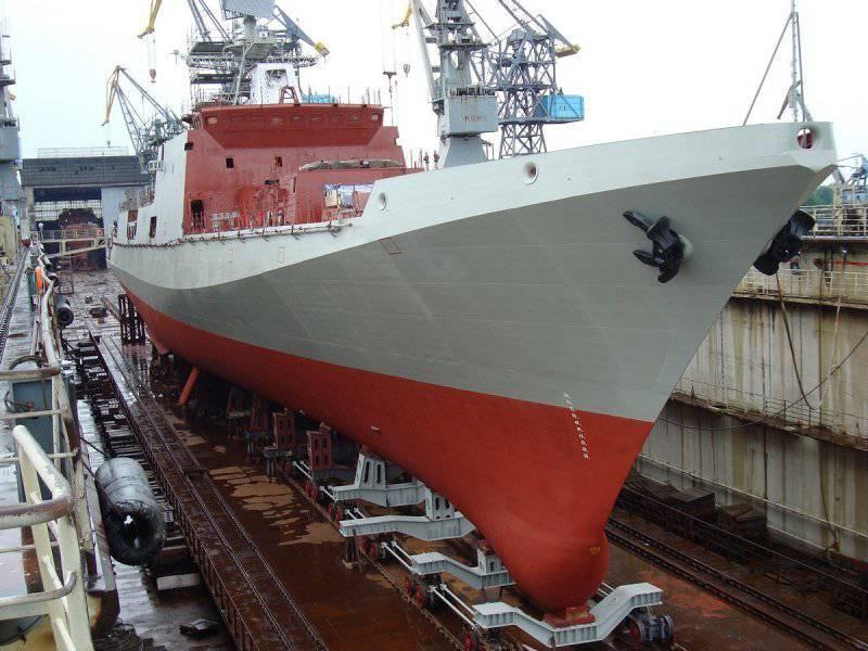 Problema de março Uma nova fragata lançada na Rússia, enquanto um porta-aviões está sendo construído no Irã