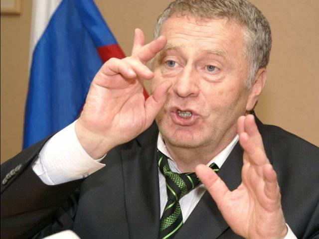 """Zhirinovsky在戏剧""""欧盟副总统"""""""