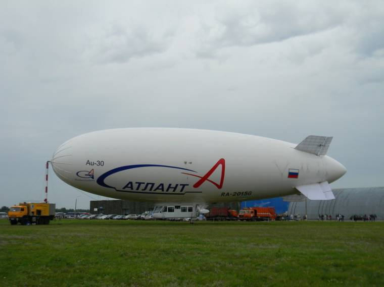 Russian airship for anti-missile and air defense