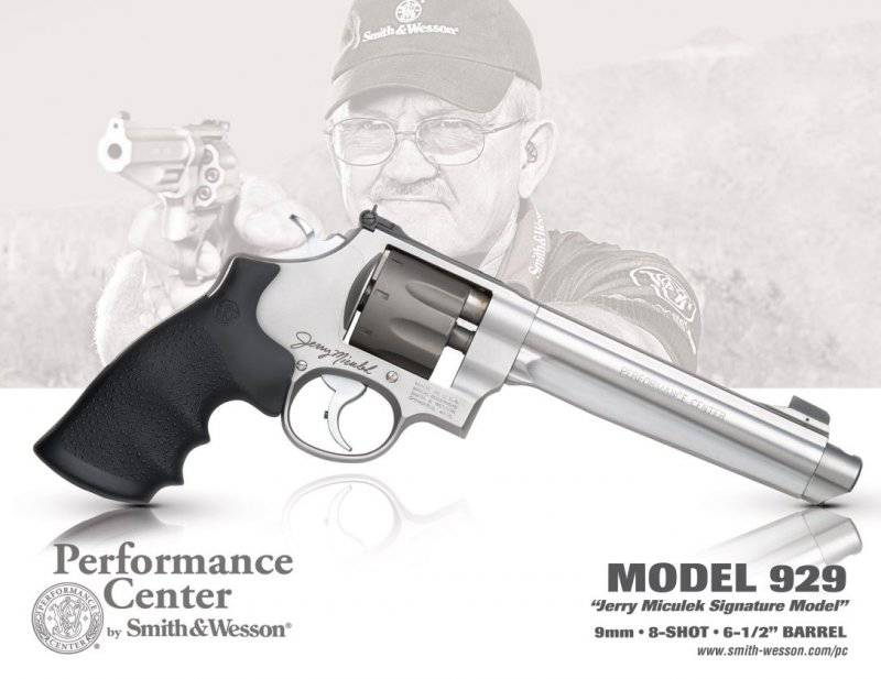 Smith & Wesson 929 Performance Center Jerry Miculek Signature Model