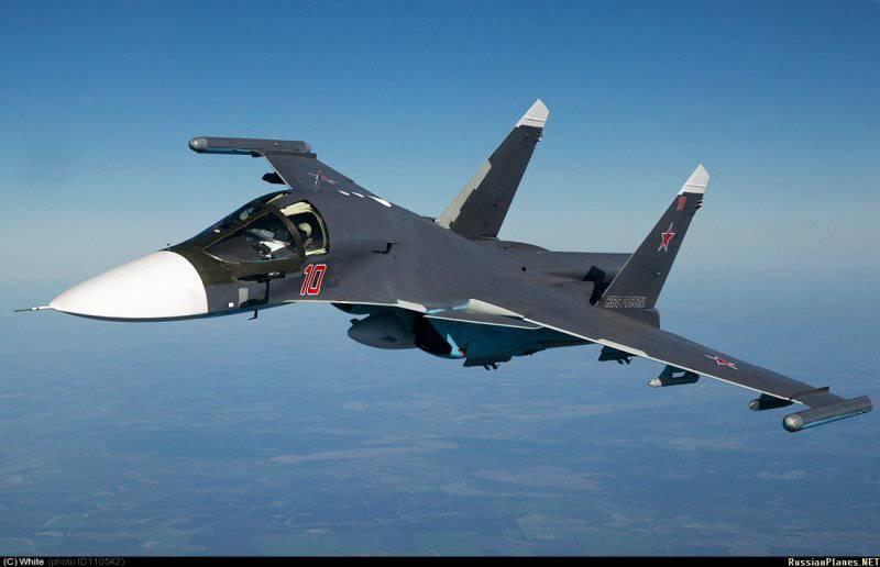 Фронтовой бомбардировщик Су-34 принят на вооружение ВВС России