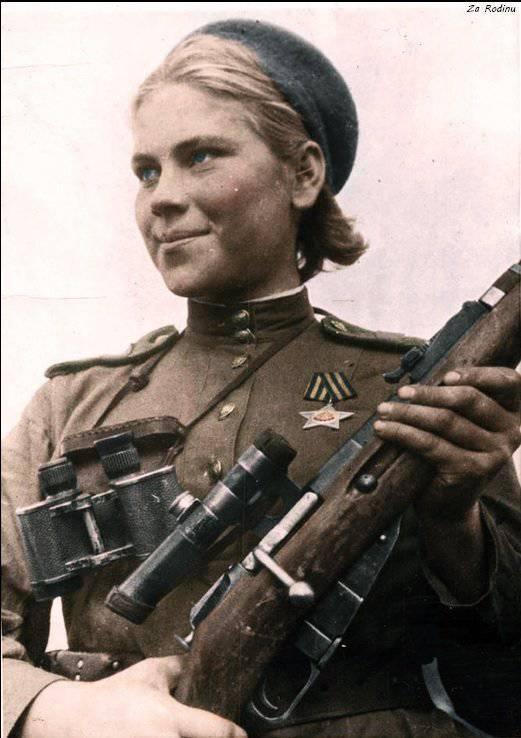 Para sempre vinte. 90 aniversário do nascimento de um franco-atirador Rosa Shanina
