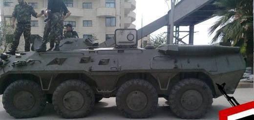 No arsenal do exército sírio, o novo BTR-80