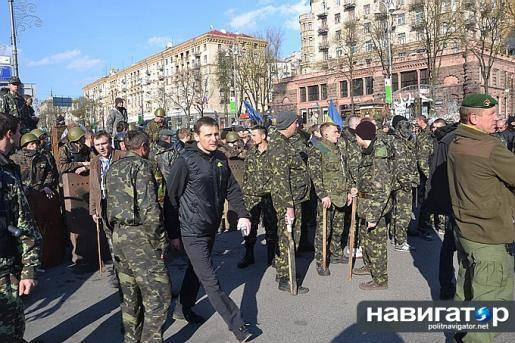 In Kiev nearly ex-Berkutovtsy, militiamen and self-defense of the Maidan nearly fought