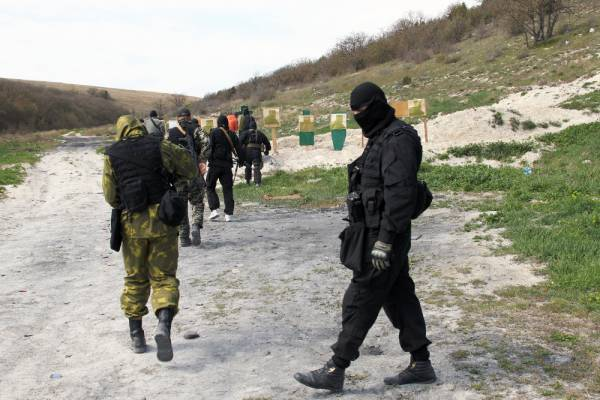 In the Crimea, began training maritime border Special Forces