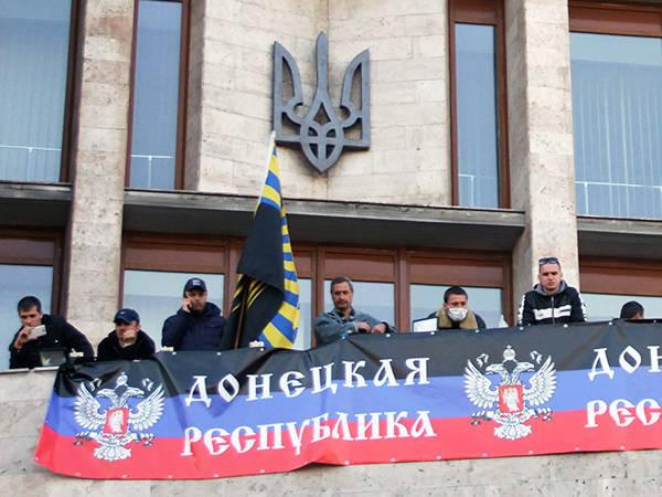 In Donezk proklamierte die Volksrepublik Donezk