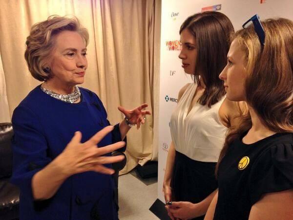 Хилари Клинтон + «пуськи» = рецепт успеха для «правозащитника»