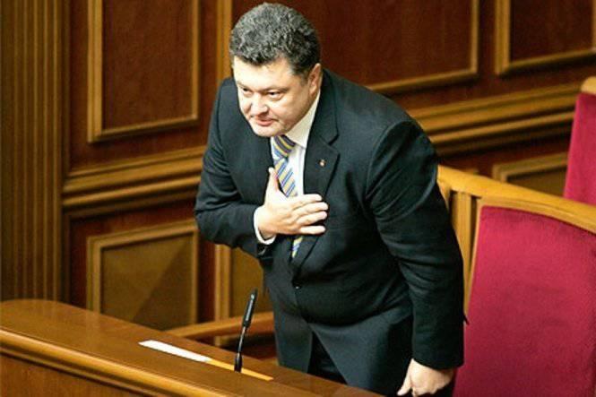 """초콜렛에있는 Poroshenko와 그의 등급 """"포인트"""""""