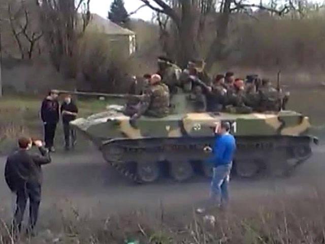 Donetsk ve Lugansk'a ağır makine kolonları taşındı