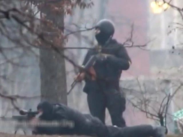 """Ministère de l'intérieur de l'Ukraine: des tireurs d'élite """"Sokol"""" ont travaillé à Kiev"""