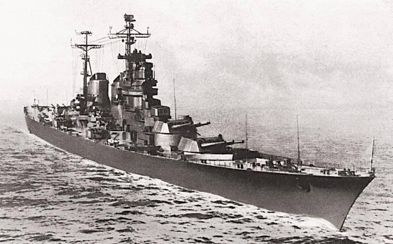 Armamento di artiglieria di incrociatori pesanti di progetti post-bellici 82 e 66