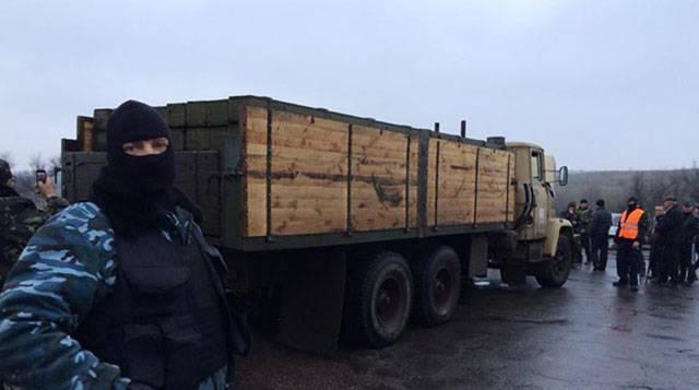 Slavyansk yakınlarında Grad sistemine mermileri olan bir kamyon gözaltına alındı
