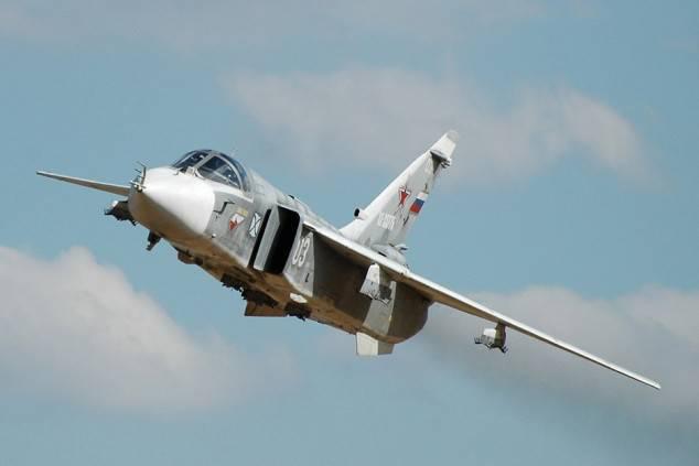 그리고 바다 전사의 우리 Su-24 중 하나!