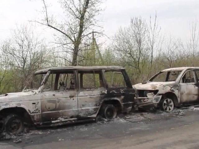 Selbstverteidigung Slawjansk sagte die Verhaftung eines der Angreifer auf dem Kontrollpunkt