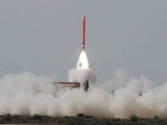 Teste do míssil Paquistão
