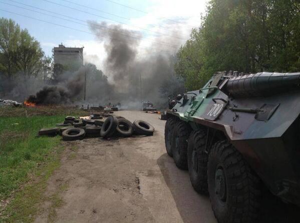 乌克兰东南部。 血腥的周四