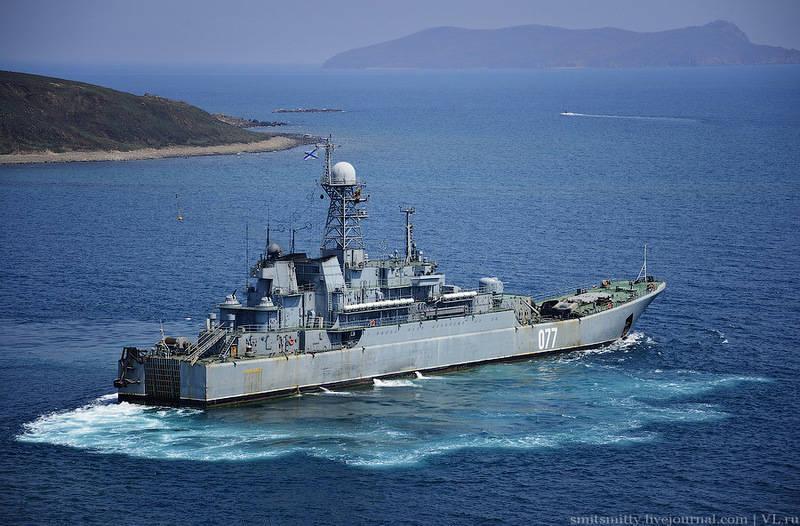 Primorye'deki Pasifik Filosu Deniz Piyadeleri'nin tabur-taktik öğretisi