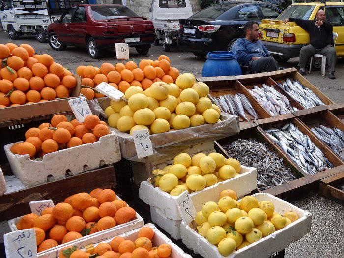 シリアの人々からのオレンジ