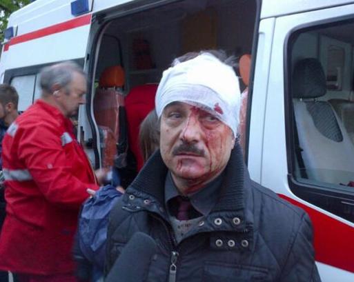 도네츠크의 시위자 충돌과 도네츠크 지역의 우크라이나 군인 사망