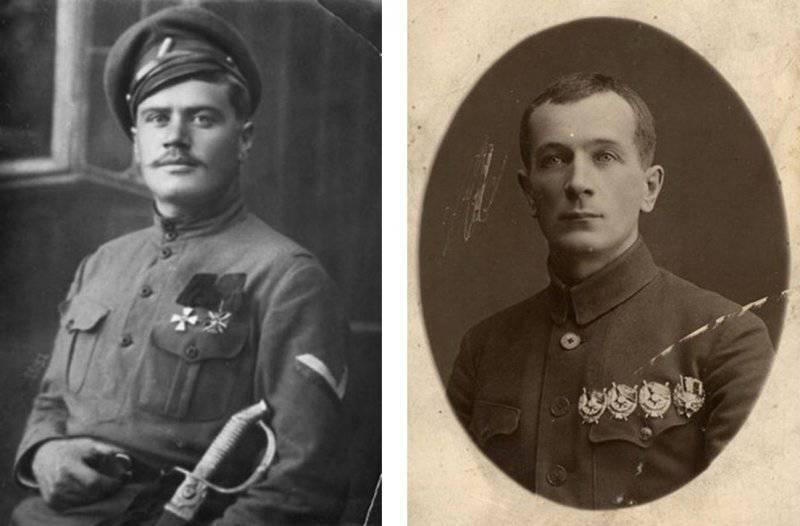 拮抗剂。 白将军Pepelyaev和红色指挥官Strod。