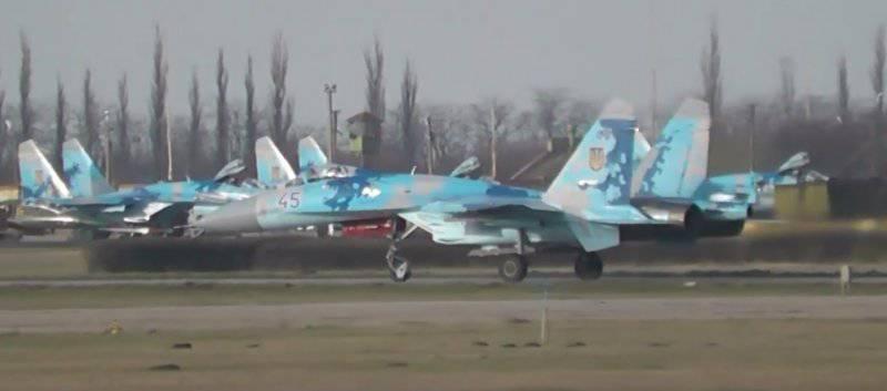 Украинские Су-27 в Кульбакино