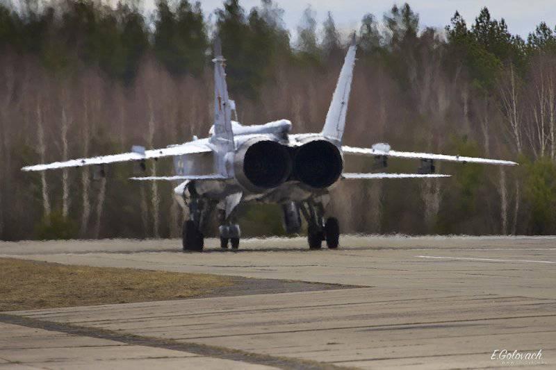 Взлёт и посадка Миг-31 с полосы. Авиабаза Саваслейка. Личные впечатления