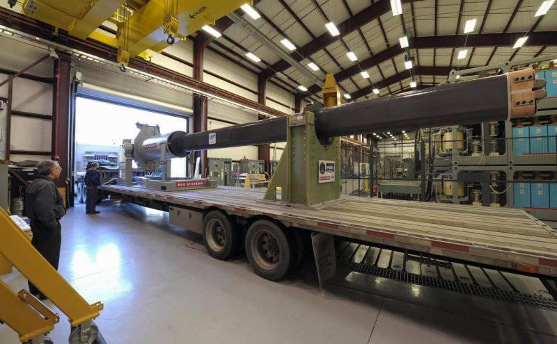 ВМС США испытает рельсотрон на борту корабля