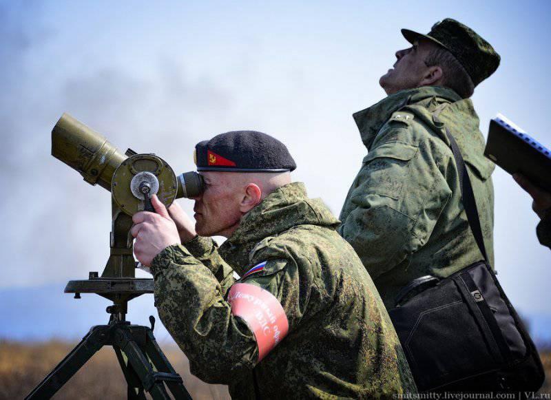 Батальонно - тактическое учение морской пехоты ТОФ в Приморье